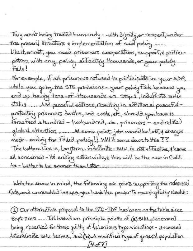 Todd Ashker to Mike Stainer et al. Sept. 14 2014, p.4